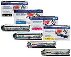 Brother MFC-9325CW 4-Pack Genuine Toner Combo TN210