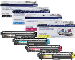 Brother HL-3140CW TN221/ TN225 Genuine Toner Combo