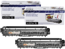 Brother TN221BK 2-Pack Genuine Black Toner Cartridge Combo TN-221BK