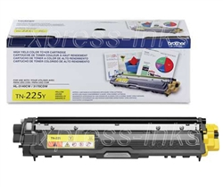 Brother TN225Y High Yield Genuine Yellow Toner Cartridge TN-225Y