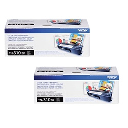 Brother TN310BK 2-Pack Genuine Black Toner Combo TN-310BK