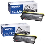 Brother TN350 Genuine Toner Cartridge 2-Pack