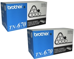 Brother TN670 2-Pack Genuine Toner Combo