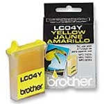 Brother LC04Y Genuine Yellow Inkjet Ink Cartridge LC04-Y