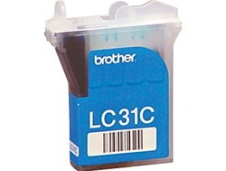 Brother LC31C Genuine Cyan Inkjet Ink Cartridge LC31-C