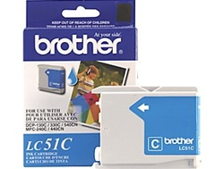Brother LC51C Genuine Cyan Ink Cartridge