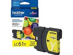 Brother LC61Y Genuine Yellow Inkjet Ink Cartridge