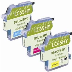 Brother LC653PK High Yield 3-Pack Inkjet Ink Cartridges