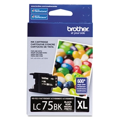 Brother LC75BK Genuine Black Inkjet Ink Cartridge