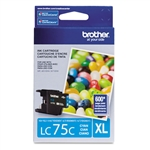 Brother LC75C Genuine Cyan Inkjet Ink Cartridge