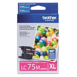 Brother LC75M Genuine Magenta Inkjet Ink Cartridge
