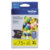 Brother LC75Y Genuine Yellow Inkjet Ink Cartridge