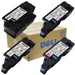 Dell Color Laserjet 1250C Genuine Toner Cartridge Combo