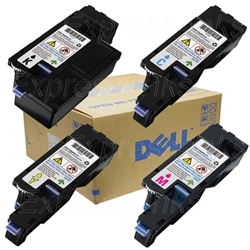 Dell Color Laserjet C1765NF Genuine Toner Combo