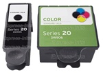 Dell Series 20 2-Pack Black/ Tri-Color Ink Cartridge Combo