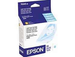 Epson T034520 Genuine Light Cyan Inkjet Ink Cartridge