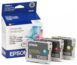 Epson T060520 Genuine Ink Cartridge Combo