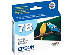 Epson #78 Light Cyan Genuine Inkjet Ink Cartridge T078520