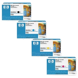 HP CP4005 Genuine Toner Cartridge Combo