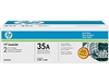 HP CB435AD Genuine Toner Cartridge Combo