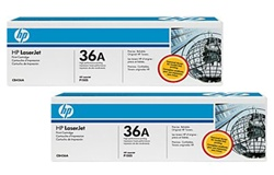 HP CB436AD Genuine CB436A Toner Cartridge Combo