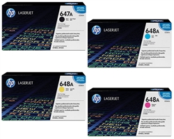 HP Color Laserjet CP4525 Genuine 4-Pack Toner Cartridge Combo