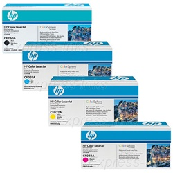 HP CM4540f Genuine 4-Pack Toner Cartridge Combo