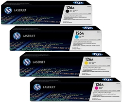 HP CE310A-3A 4-Pack Genuine CMYK Toner Combo
