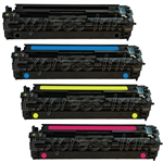 HP CE320A-3A 4Pk Compatible Toner Cartridge Combo 128A