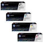 HP CM1415 Genuine Hewlett Packard 128A Toner Combo