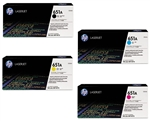 HP CE340A-3A 4-Pack Genuine Toner Cartridge Combo
