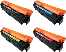 HP CP5225 4-Pack Compatible Toner Combo CE740A-3A, 307A