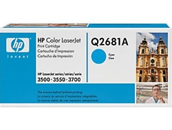 HP 3700 Genuine Cyan Toner Cartridge Q2681A, 311A