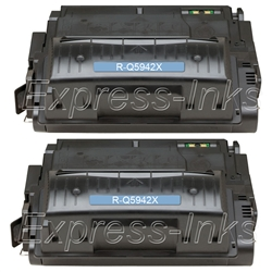 HP Laserjet 4250 2-Pack Toner Cartridge Combo Q5942XD