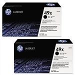 HP Q5949XD 2-Pack Genuine Toner Cartridges (49X)