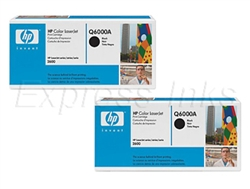 HP Q6000AD Genuine 2-Pack Black Toner Cartridges