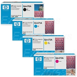 HP Color Laserjet 3600 Genuine Toner Combo