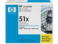HP Q7551XD Genuine Toner Cartridge Combo