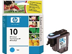 HP #10 Genuine Cyan Printhead C4801A
