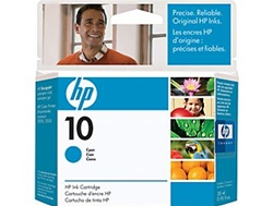 HP #10 Genuine Cyan Ink Cartridge C4841A