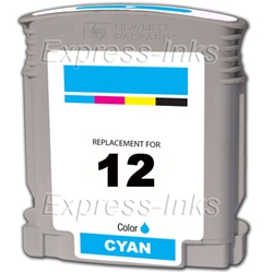HP #12 Cyan Inkjet Ink Cartridge C4804A
