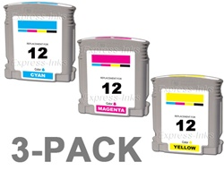 HP #12 3-Pack Inkjet Ink Cartridge Combo