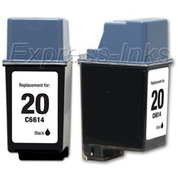 HP #20 Black Inkjet Cartridge C6614DN