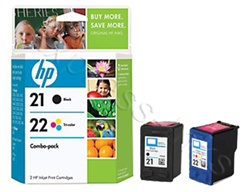 HP 21/22 2-Pack Inkjet Cartridges C9509BN