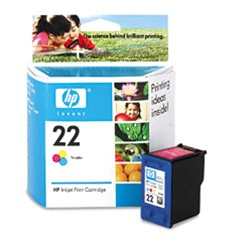 HP # 22 Genuine Tri-Color Ink Cartridge C9352AN