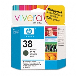 HP #38 Genuine Matte Black Ink Cartridge C9412A