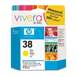 HP #38 Genuine Yellow Ink Cartridge C9417A