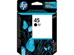 HP #45 Genuine Black Inkjet Ink Cartridge 51645A