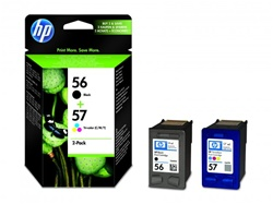 HP #56/#57 Genuine Ink Cartridge Combo C9321FN