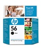 HP #56 Genuine Black Inkjet Cartridge C6656AN
